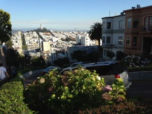Lombard Street - the steepest street in the US (?)